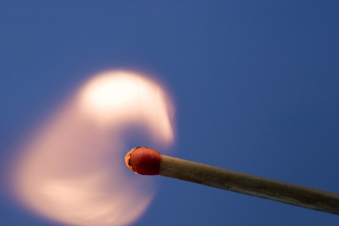 Flame and match