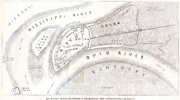 Cairo Ill Map 1861